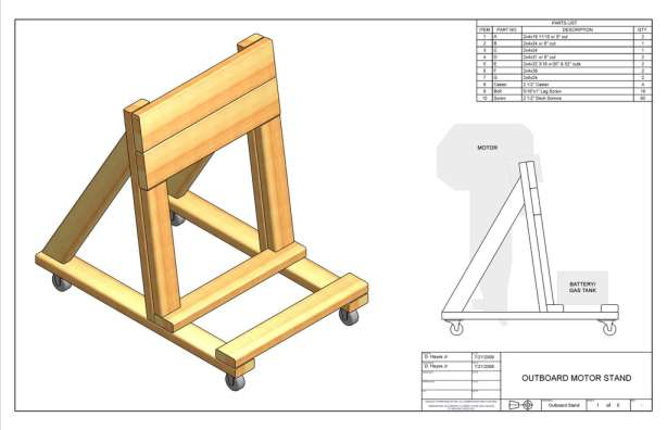 Plans For Wood Outboard Motor Stand Plans Free Download